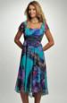 Lehké šifónové šaty se vzorem