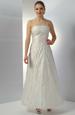 Svatební šaty na ramínka vyšívané perličkami