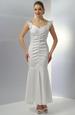 Elastické svatební dlouhé šaty