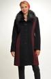 Dámský černý kabát