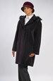 Elegantní dámské paleto s oddělávací kapucí