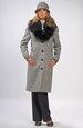 Mladistvý kabát pod kolena v módním pepitu