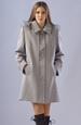 Elegantní dámské paleto s kapucí a ozdobnou légou