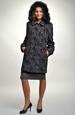 Krátký zimní kabát v černošedé