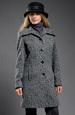 Zímní kabát z módního materiálu