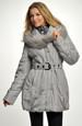 Dámská zimní bunda s kožešinou na kapuci