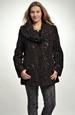 Krátký hnědý kabátek s velkým límcem