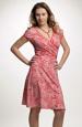 Letní dámské šaty s jemným vzorem