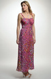 Letní společenské šaty s řasením na prsou