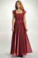 Plesové korzetové šaty s organzovou sukní