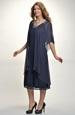 Šifonové šaty s řasením na bok