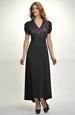 Elegantní večerní šaty z černé krajky