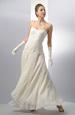 Korzetové svatební šaty s kolovou sukní