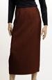 Klasická dámská sukně v rezavém materiálu