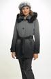 Krátký kabát s kapucí - dámské paleto