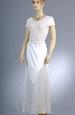 Svatební šaty s pletážovým živůtkem a krajkou
