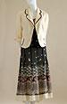 Dámský trojkomplet se sukní s bordurou