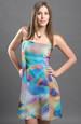 Dámské letní společenské šaty v barvě duhy