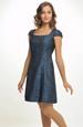 Dívčí modré společenské šaty