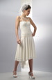 Krátké korzetové svatební šaty s kolovou sukní
