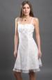 Letní bílé šaty na ramínka
