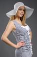 Letní bílý nebo smetanový klobouk
