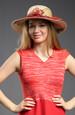 letní klobouk ze slámy