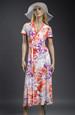 Šaty s živůtkem na bok a vzorem květů