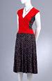Letní šaty do sedla s nabíranou sukní