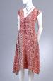 Letní šaty s živůtkem řaseným na bok