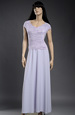 Sleva fialkových šatů s pletáží