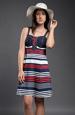 Pestré letní pruhované šaty