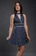 Retro šaty s drobnými puntíky