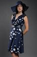 Dámské letní šaty s velkými puntíky