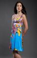 Lehké barevné hedvábné společenské šaty