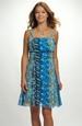 Letní šaty ze šifonu v originálním vzorku