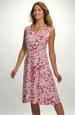 Lehké červenobílé letní šaty