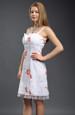Bílé dívčí šaty do tanečních