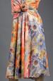 Dámské květované šaty se spadenými rukávky