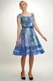 Lehké šifonové šaty v jasné modré