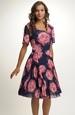 Společenské šaty s potiskem květů