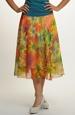 Letní šifónová sukně