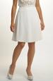 Smetanová sukně zvonkového střihu
