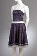 Korzetové minišaty s kolovou sukní s drobným vzorem