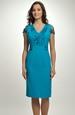 Pouzdrové šaty s děleným sedlem