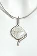 náhrdelník sklo se stříbrem