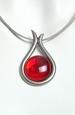 náhrdelník se sklem
