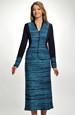 Dámský pletený kostým s dlouhou sukní