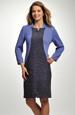 Šaty s pleteným živůtkem kombinované s bouclé látkou