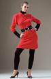 Pletené tunikové šaty s mírně nabranými rukávy